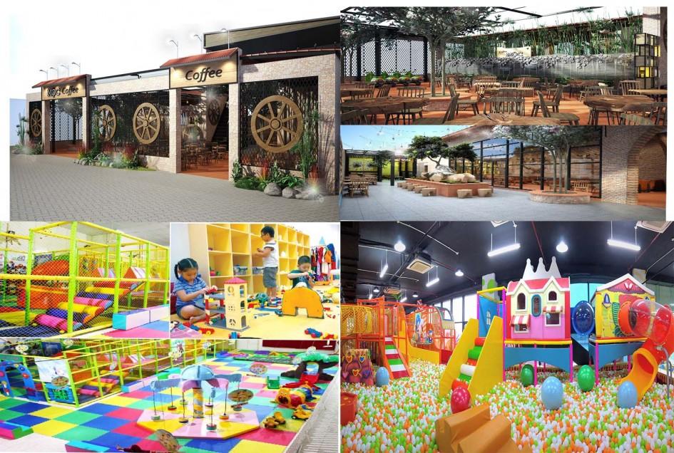 Thiết kế Và Thi Công Quán Cafe Khu Vui Chơi Trẻ Em Tại ĐăkNông